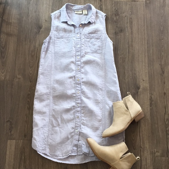 54945b17eca Adrienne Vittadini Dresses   Skirts - Adrienne Vittadini sleeveless linen  dress ~ Size 4